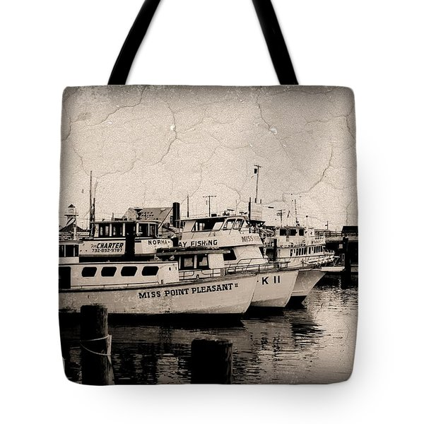 At The Marina - Jersey Shore Tote Bag