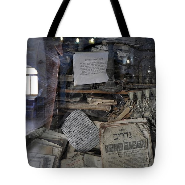 Tote Bag featuring the photograph At The Old Tample Of Safed  by Dubi Roman