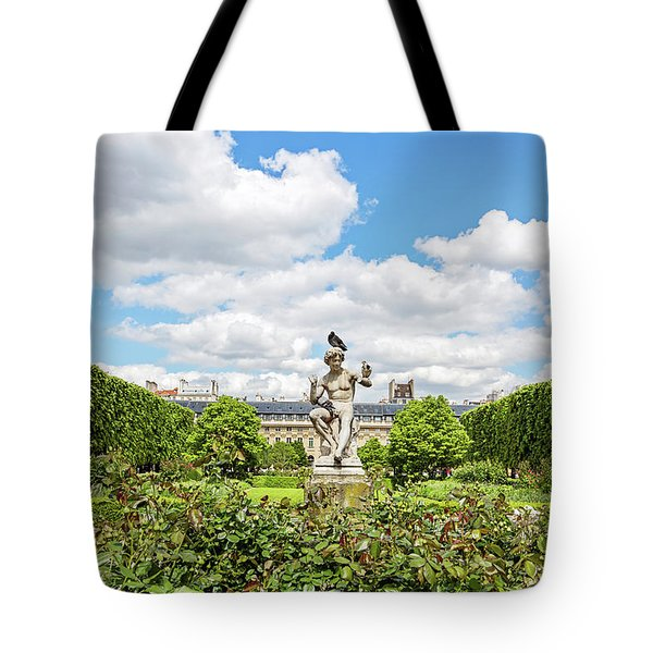 Tote Bag featuring the photograph At The Palais Royal Gardens by Melanie Alexandra Price