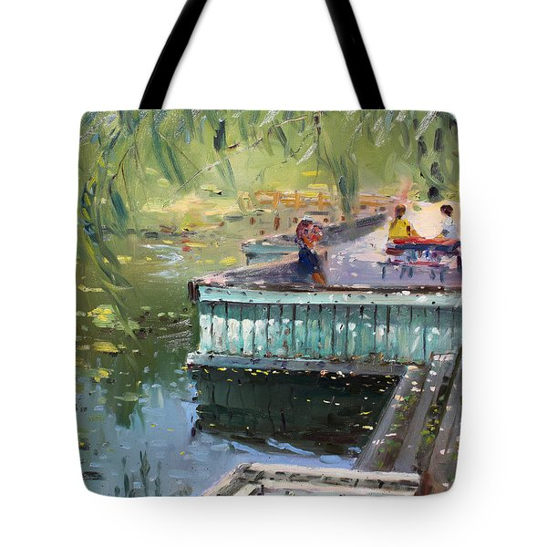 At The Park By The Water Tote Bag