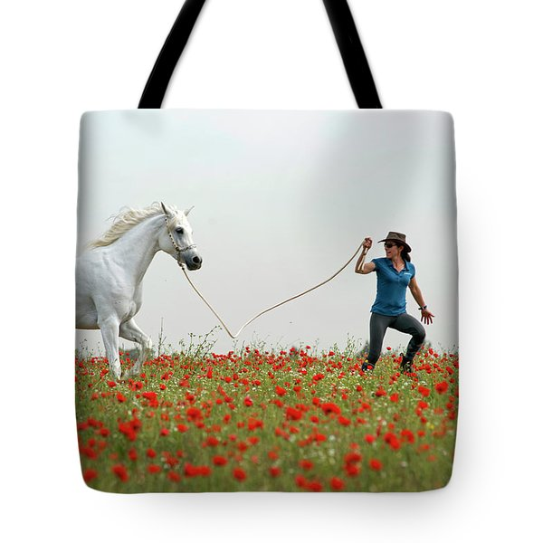 At The Poppies' Field... 2 Tote Bag