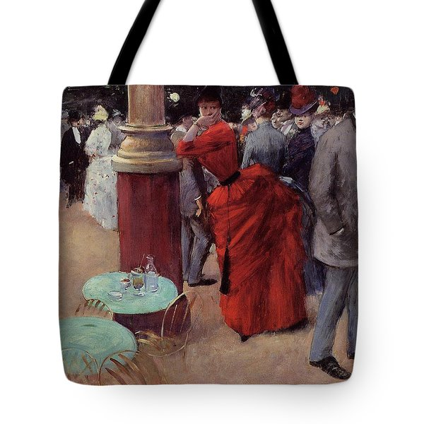 At The Public Garden Tote Bag by Jean Louis Forain