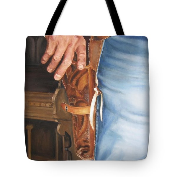 At The Ready Tote Bag by Lori Brackett