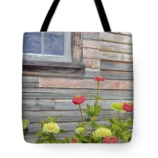 Tote Bag featuring the painting At The Shelburne by Lynne Reichhart