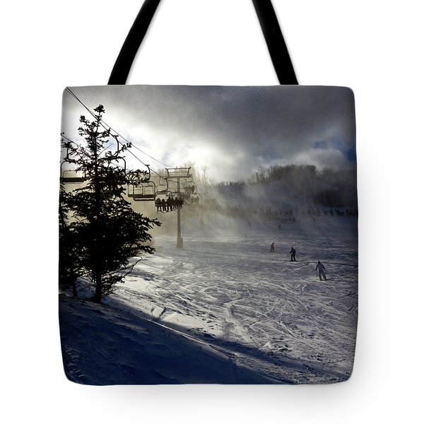 At The Ski Slope Tote Bag