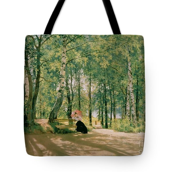 At The Summer Cottage Tote Bag by Ivan Ivanovich Shishkin