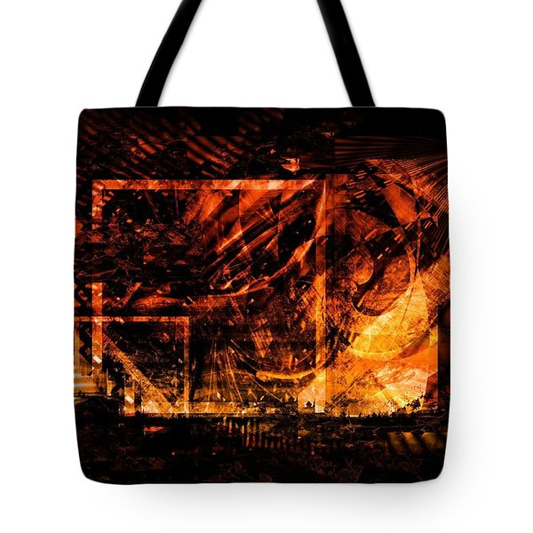 Tote Bag featuring the digital art At The Theater by Art Di