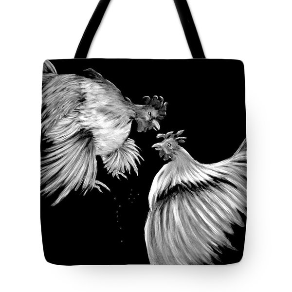 Tote Bag featuring the photograph At The Top Of His Game In Black And White by Antonia Citrino