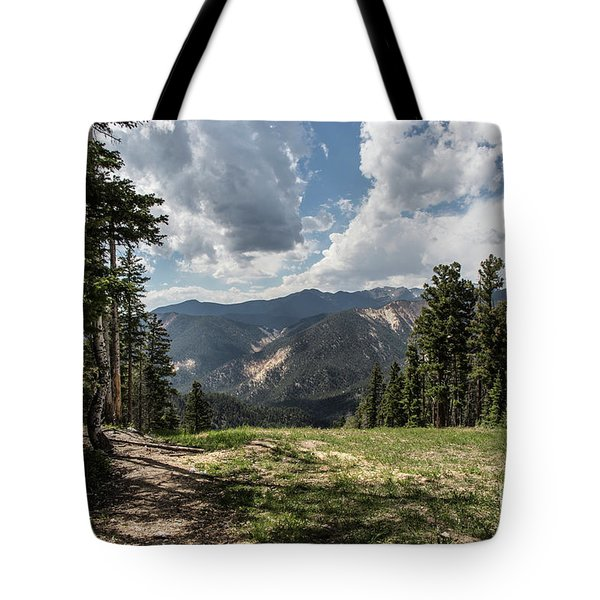 At The Top Of The Run Tote Bag