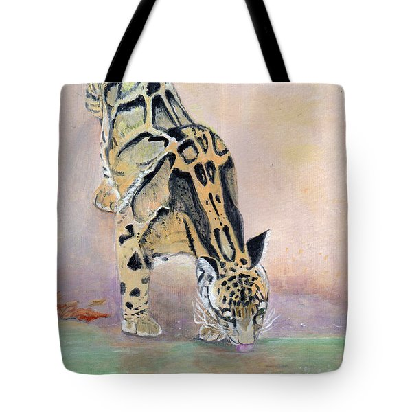 At The Waterhole - Painting Tote Bag by Veronica Rickard
