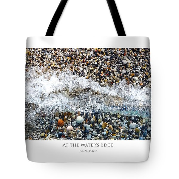 Tote Bag featuring the digital art At The Waters Edge by Julian Perry