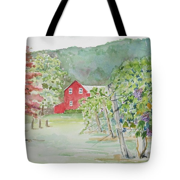 At The Winery Tote Bag by Christine Lathrop