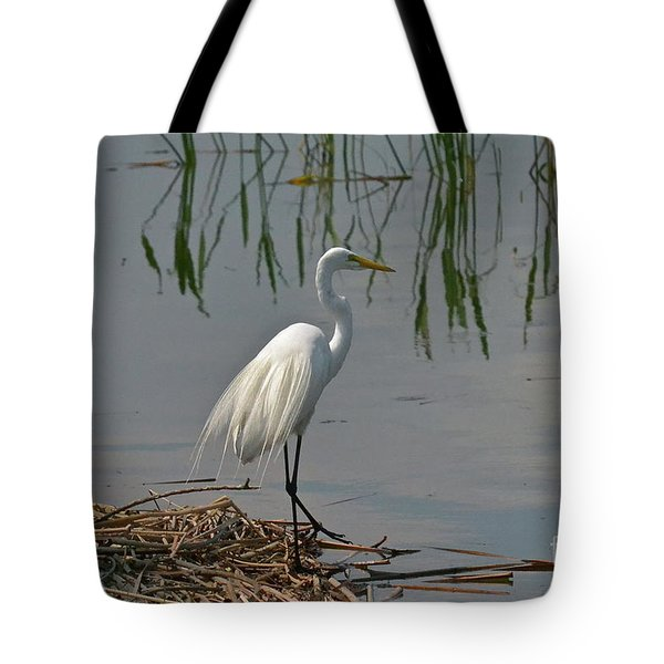 Tote Bag featuring the photograph At Water's Edge by Carol  Bradley