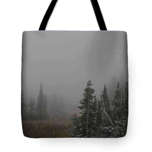 At Winter's Door Tote Bag