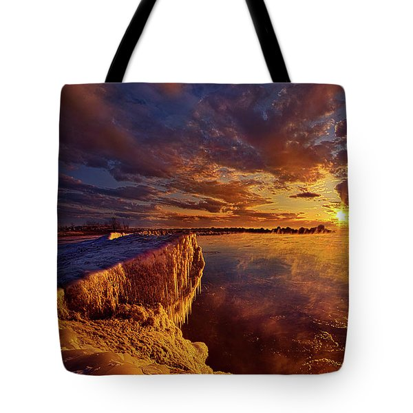 Tote Bag featuring the photograph At World's End by Phil Koch