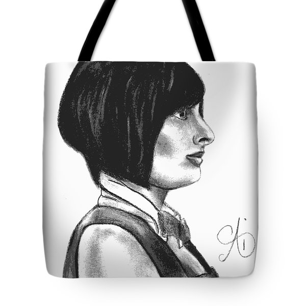 At Your Service - Bartender Art - Charcoal Drawing Illustration By Ai P. Nilson  Tote Bag
