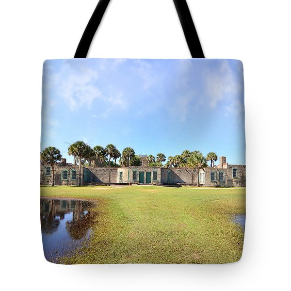 Atalaya Castle At Huntington Tote Bag