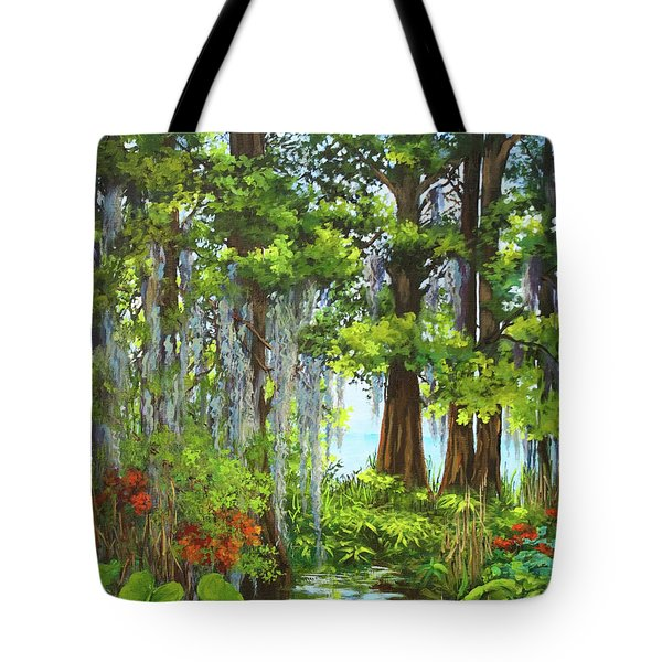 Tote Bag featuring the painting Atchafalaya Swamp by Dianne Parks