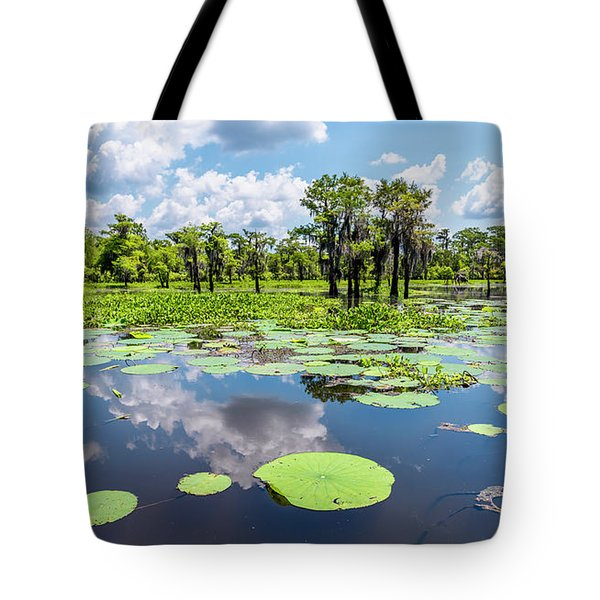 Atchaflaya Basin Reflection Pool Tote Bag