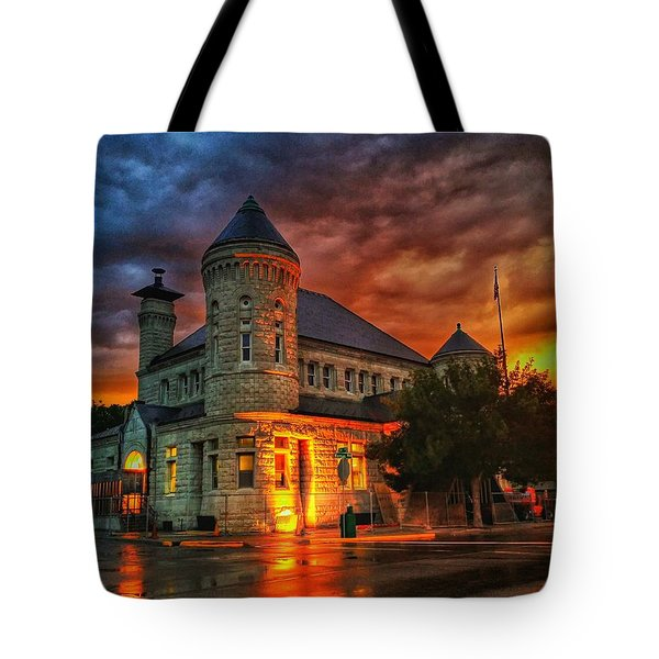 Atchison Post Office  Tote Bag by Dustin Soph