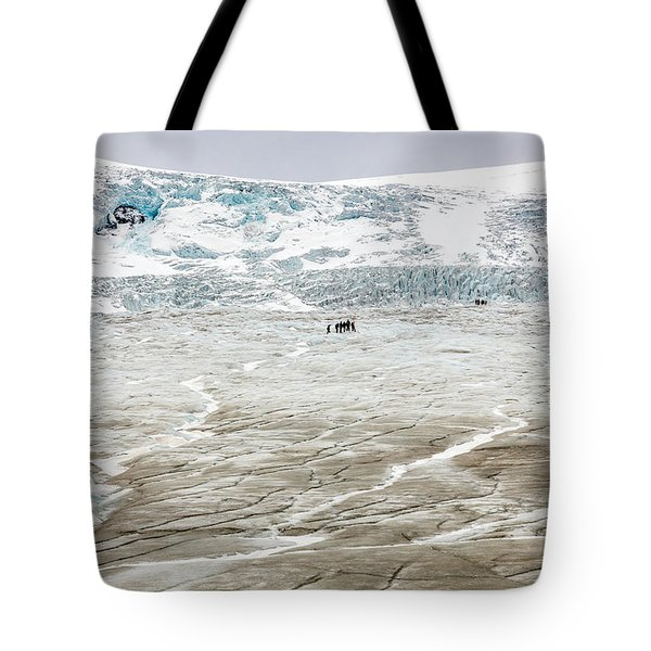 Athabasca Glacier With Guided Expedition Tote Bag by Pierre Leclerc Photography
