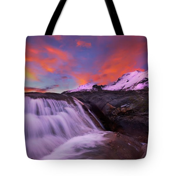 Tote Bag featuring the photograph Athabasca On Fire by Dan Jurak