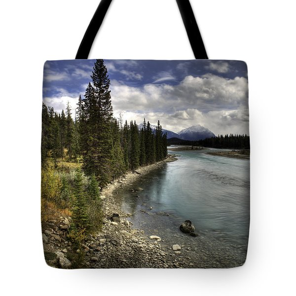 Tote Bag featuring the photograph Athabasca River by John Gilbert