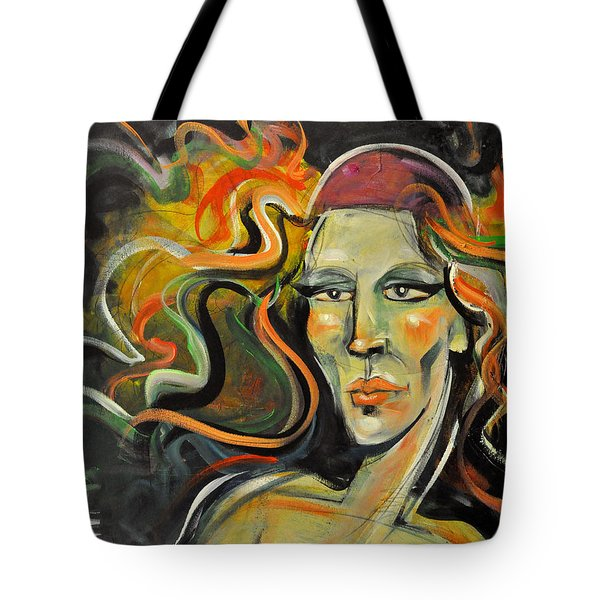 Athena Daughter Of Zeus Tote Bag by Tim Nyberg