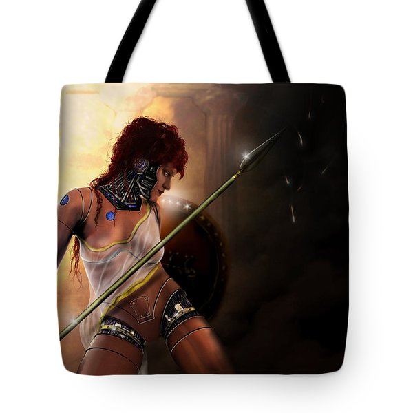 Tote Bag featuring the digital art Athena by Jeremy Martinson