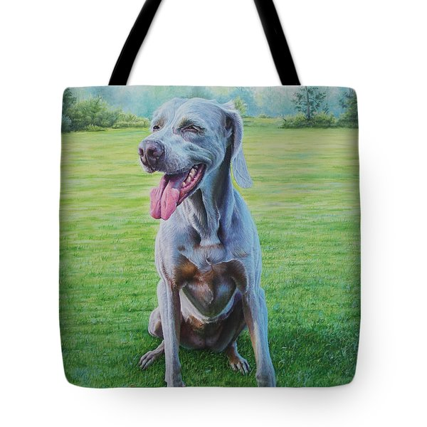 Tote Bag featuring the painting Athena by Mike Ivey