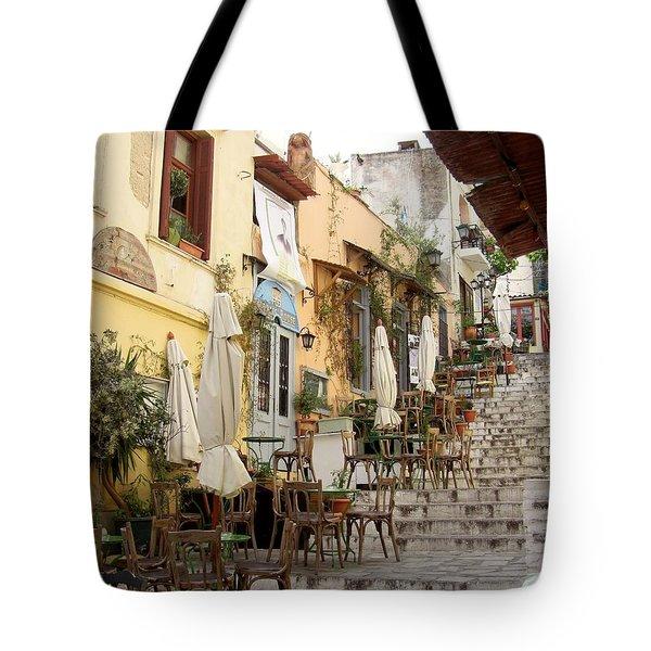 Athens Cafe Tote Bag