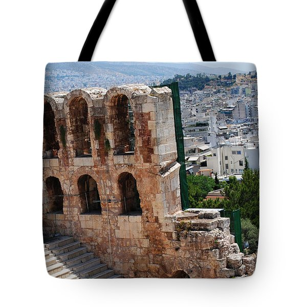 Athens From Acropolis II Tote Bag