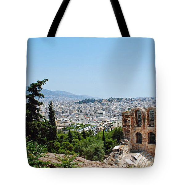 Athens From Acropolis Tote Bag