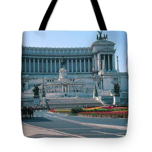 Italian National Monument In Rome To King Victor Emmanuel II In Piazza Venezia, Rome Tote Bag