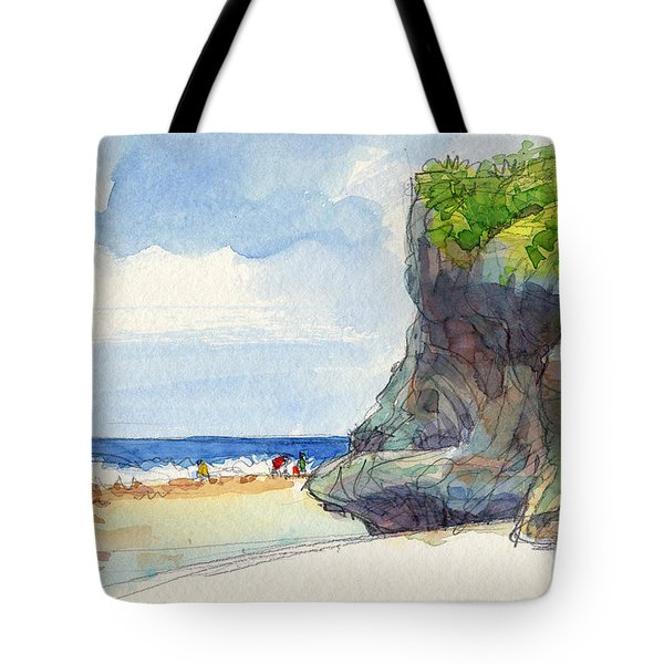 Atiu, Women Gathering Seafood Tote Bag