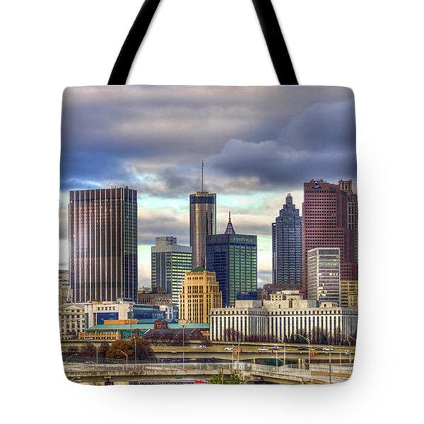 Atlanta Downtown Skyline Cityscape Art Tote Bag