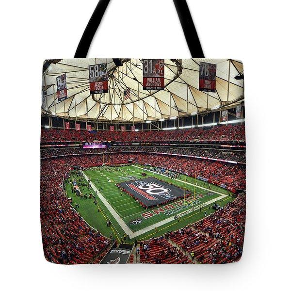 Atlanta Falcons Georgia Dome Tote Bag