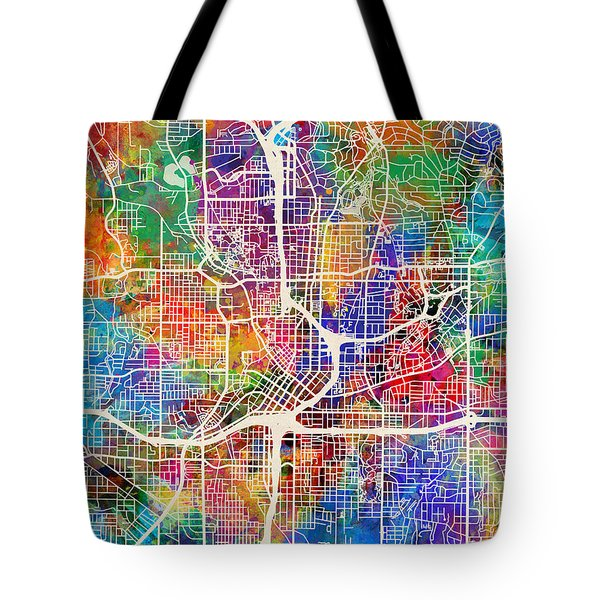 Atlanta Georgia City Map Tote Bag
