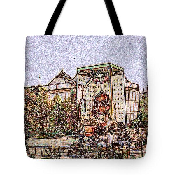 Atlanta Georgia Usa - Color Pencil Tote Bag