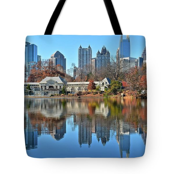 Atlanta Reflected Tote Bag by Frozen in Time Fine Art Photography