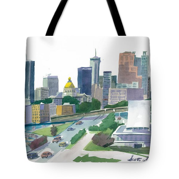 Atlanta Skyline With State Capitol Tote Bag