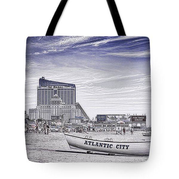 Tote Bag featuring the photograph Atlantic City by Linda Constant