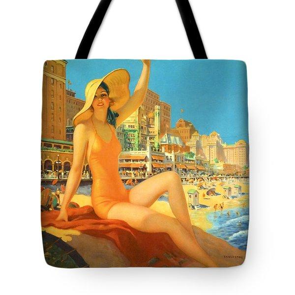 Atlantic City  Tote Bag by Georgia Fowler