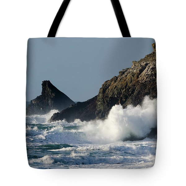 Atlantic Splash Tote Bag by Steev Stamford