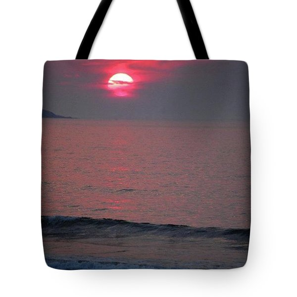 Atlantic Sunrise Tote Bag by Sumoflam Photography