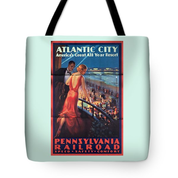 Atlantinc City - America's Great All Year Resort - Vintage Poster Folded Tote Bag