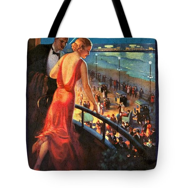 Atlantinc City - America's Great All Year Resort - Vintage Poster Vintagelized Tote Bag