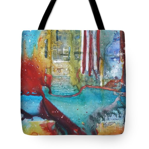 Atlantis Crashing Into The Sea Tote Bag