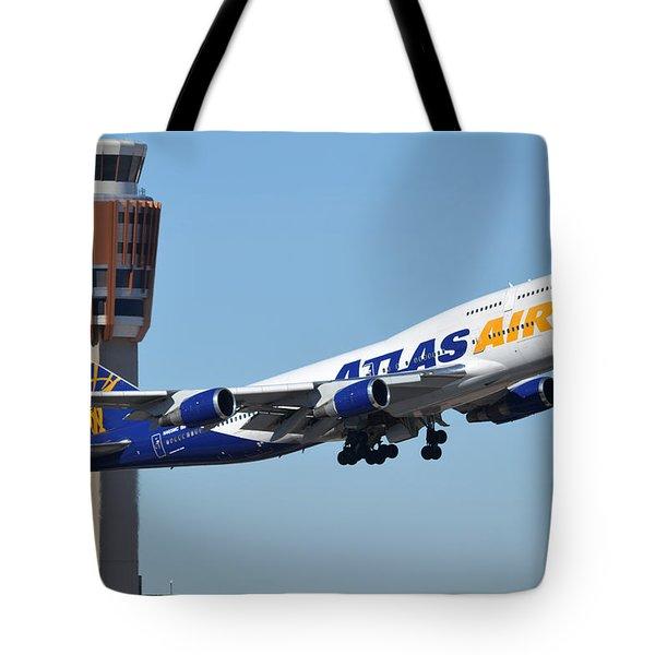 Atlas Air Boeing 747-446 N465mc Phoenix Sky Harbor January 12 2015 Tote Bag
