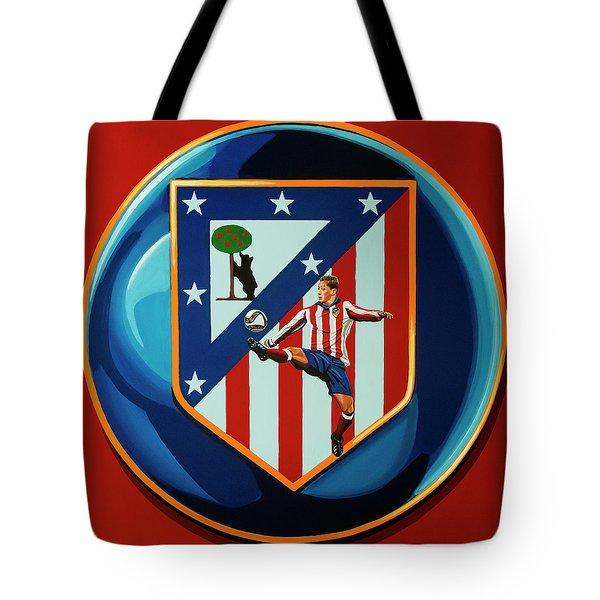Atletico Madrid Painting Tote Bag